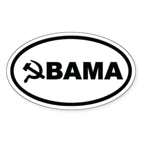 Obama Hammer & Sickle Oval Sticker