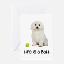 Bichon Frise Life Greeting Card