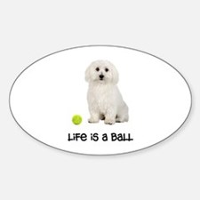 Bichon Frise Life Oval Decal