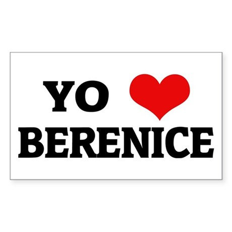 Amo (i love) Berenice Rectangle Sticker
