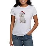 Bichon Frise Santa Women's T-Shirt