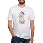 Bichon Frise Santa Fitted T-Shirt
