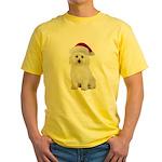 Bichon Frise Santa Yellow T-Shirt