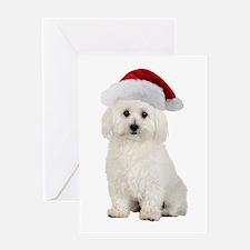 Bichon Frise Santa Greeting Card