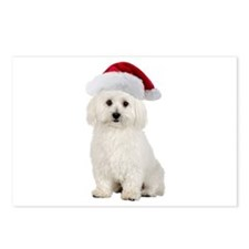 Bichon Frise Santa Postcards (Package of 8)