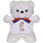 Bichon Frise Santa Teddy Bear