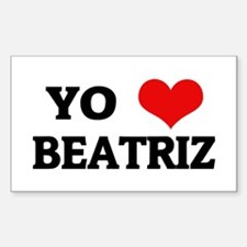 Amo (i love) Beatriz Rectangle Decal