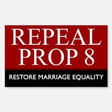 Repeal Prop 8 (Red) Rectangle Decal
