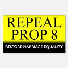 Repeal Prop 8 (Yellow) Rectangle Decal