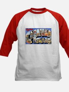Catalina Island (Front) Kids Baseball Jersey