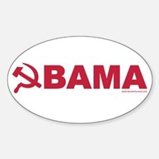 Obama Red Hammer & Sickle Oval Decal
