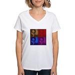 Michelle Obama Women's V-Neck T-Shirt
