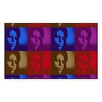 Michelle Obama Rectangle Sticker 10 pk)