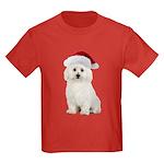 Bichon Frise Santa Kids Dark T-Shirt