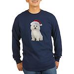 Bichon Frise Santa Long Sleeve Dark T-Shirt