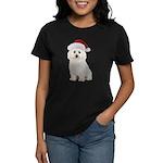 Bichon Frise Santa Women's Dark T-Shirt