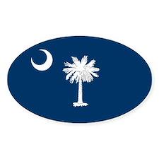 South Carolina State Flag Oval Decal