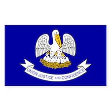 Louisiana State Flag Rectangle Decal