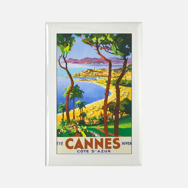 Cannes France Rectangle Magnet