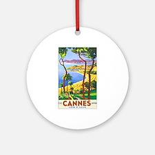 Cannes France Keepsake (Round)