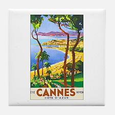 Cannes France Tile Coaster