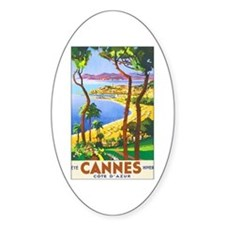 Cannes France Oval Bumper Stickers