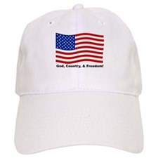 God, Country, & Freedom Baseball Cap