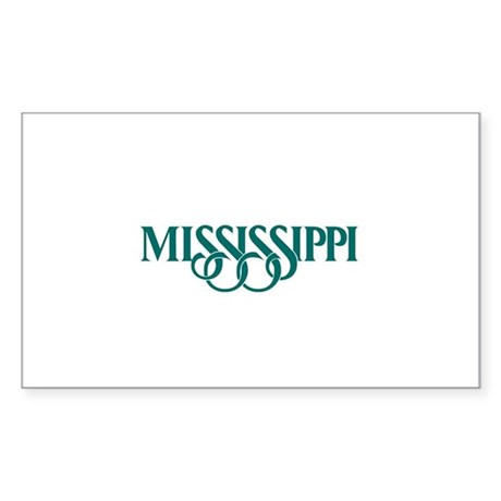 Mississippi Rectangle Sticker