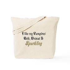 Cold Undead & Sparkling Gold Tote Bag