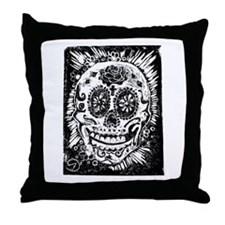 Day fo the dead Sugar skull Throw Pillow