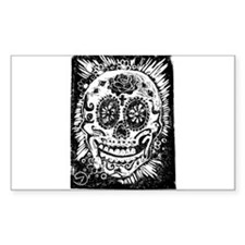 Day fo the dead Sugar skull Rectangle Decal