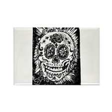 Day fo the dead Sugar skull Rectangle Magnet