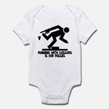 Runs with scissors Infant Bodysuit