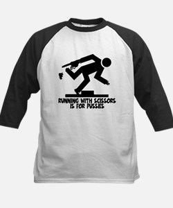 Runs with scissors Kids Baseball Jersey