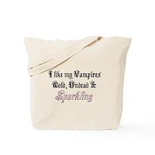 Cold Undead & Sparkling Rose Tote Bag