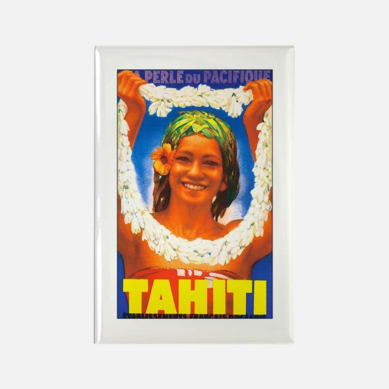 Tahiti South Pacific Rectangle Magnet (10 pack)