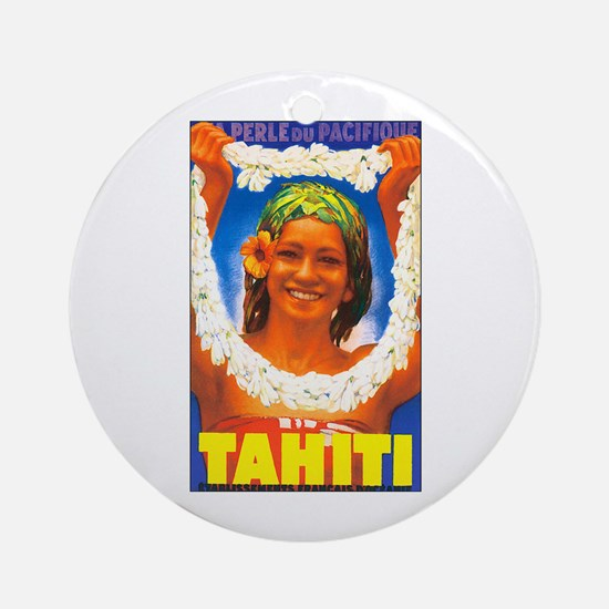 Tahiti South Pacific Keepsake (Round)