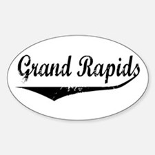 Grand Rapids Oval Decal