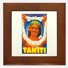 Tahiti South Pacific Framed Tile
