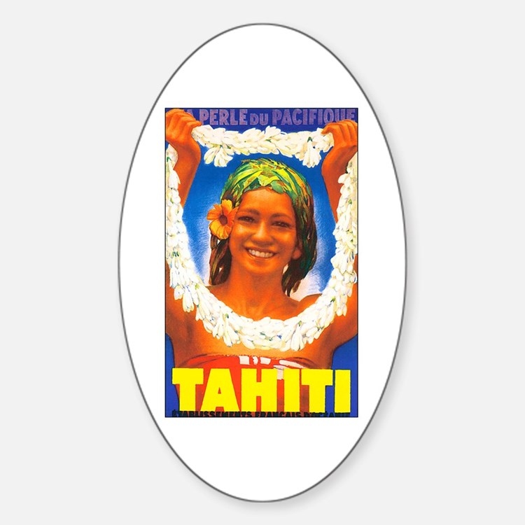Tahiti South Pacific Oval Decal