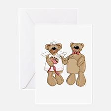 Bride and Groom bears Greeting Card