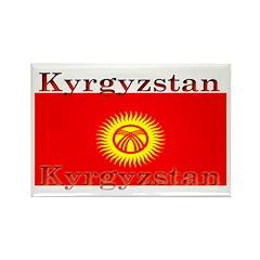 Kyrgyzstan Kyrgyz Flag Rectangle Magnet (10 pack)