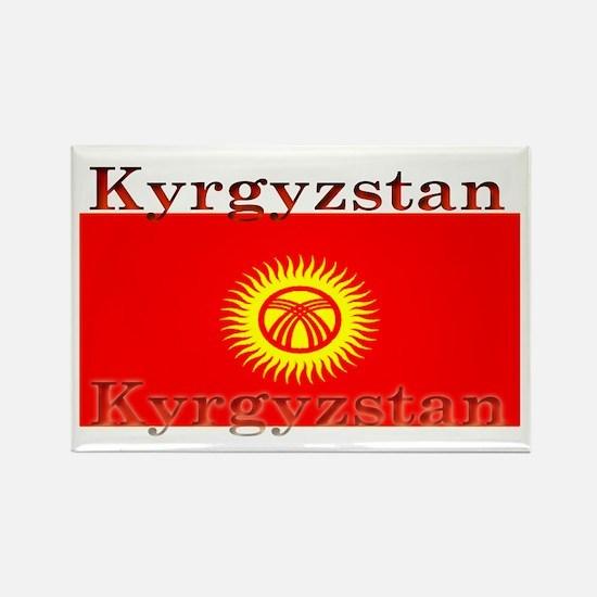 Kyrgyzstan Kyrgyz Flag Rectangle Magnet