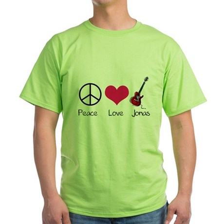 Peace Love Jonas Green T-Shirt
