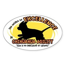 The Secret to Chihuahua Agility Oval Decal