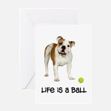 Bulldog Life Greeting Card