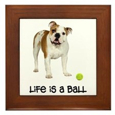 Bulldog Life Framed Tile