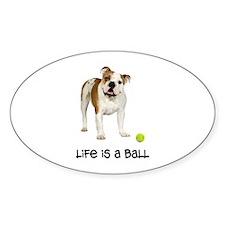 Bulldog Life Oval Decal