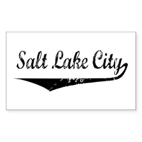 Salt Lake City Rectangle Sticker