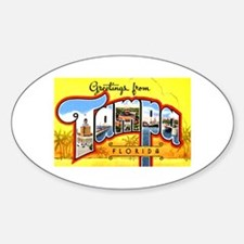 Tampa Florida Greetings Oval Bumper Stickers